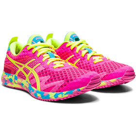 asics Gel-Noosa Tri 12 Shoes Women, pink glo/safety yellow